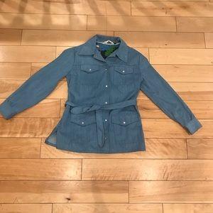 Vintage Jackets & Coats - 1970s Slantzi Craft Denim Button Up Jacket 14